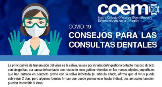 Consejos para clínicas dentales sobre COVID-19